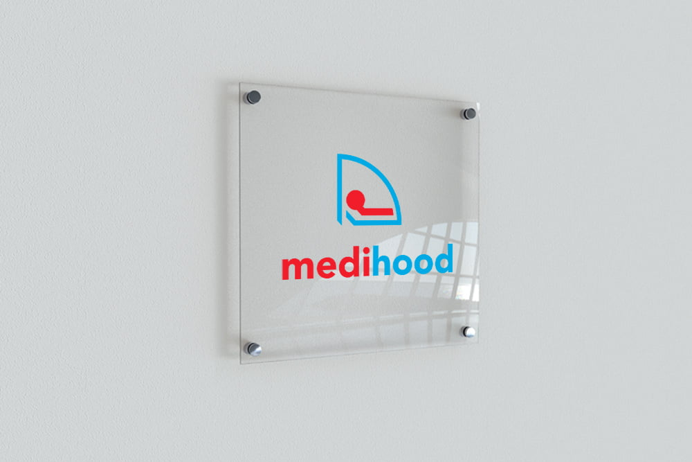 Medihood logo design by nuvismedia Melbourne