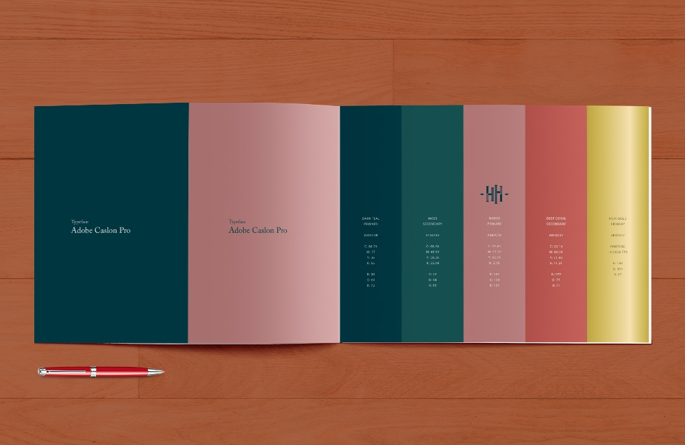 Harvest Home, Avenel brand colour palette and typography by nuvismedia graphic design, Melbourne